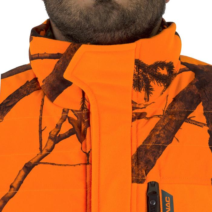 Gilet chasse chaud 500 camouflage fluo - 1253066