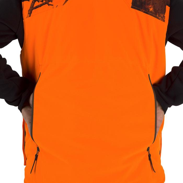 Gilet chasse chaud 500 camouflage fluo - 1253068