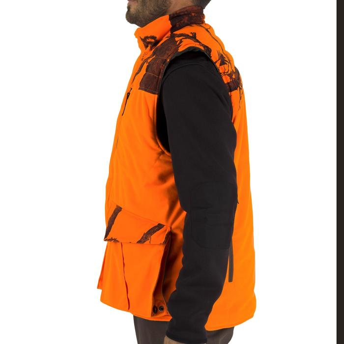 Gilet chasse chaud 500 camouflage fluo - 1253070
