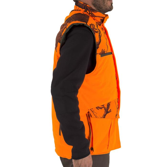 Gilet chasse chaud 500 camouflage fluo - 1253071