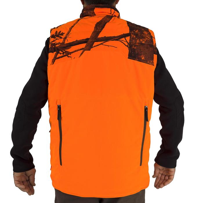 Gilet chasse chaud 500 camouflage fluo - 1253072