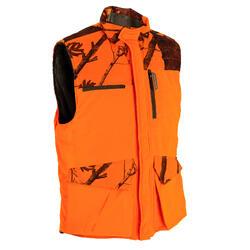 Chaleco Caza Solognac Bgp 500 Calido Camuflaje Naranja Fluo