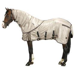 Manta ligera antimoscas equitación poni y caballo beige
