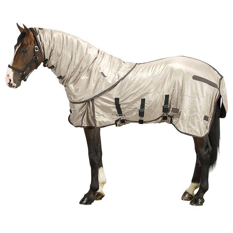 PÉČE O KONĚ TEPLÉ POČASÍ Jezdectví - DEKA PROTI HMYZU BÉŽOVÁ FOUGANZA - Péče o koně
