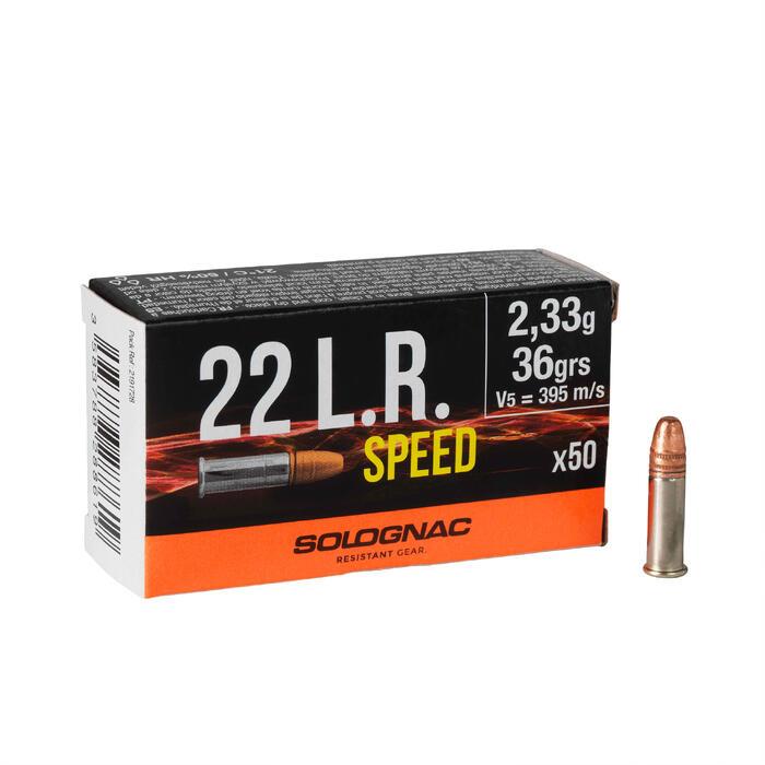 Bala Calibre 22 Solognac Long Rifle Speed x 50 36 Greins