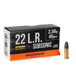 Bala Calibre 22 Solognac Long Rifle Subsónica x 50 40 Greins