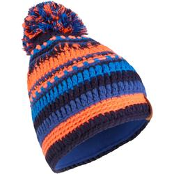 BONNET DE SKI ENFANT MIXYARN MARINE ORANGE