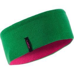 Hoofdband voor skiën Reverse roze/groen