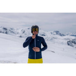 Wollen midlayer voor skiën heren 500 blauw