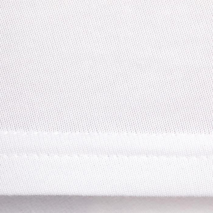 Wedstrijdpolo 100 Compet met korte mouwen voor kinderen wit