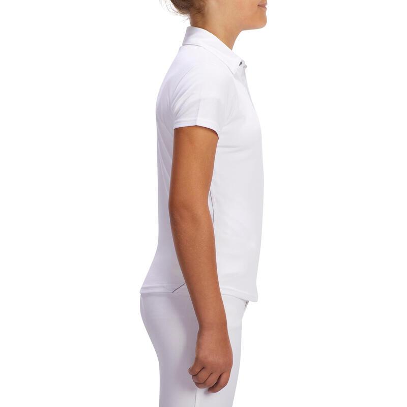 2df40cb8b9ea 100 Compete Kids  Short-Sleeved Horse Riding Show Polo Shirt - White ...
