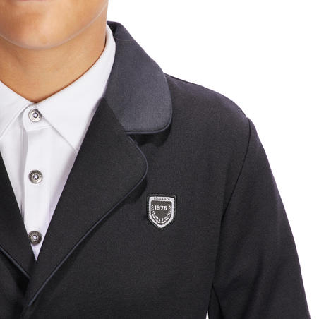 100 Compete Kids' Horse Riding Show Jacket - Black