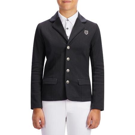 100 Compete Kids' Horseback Riding Show Jacket - Black