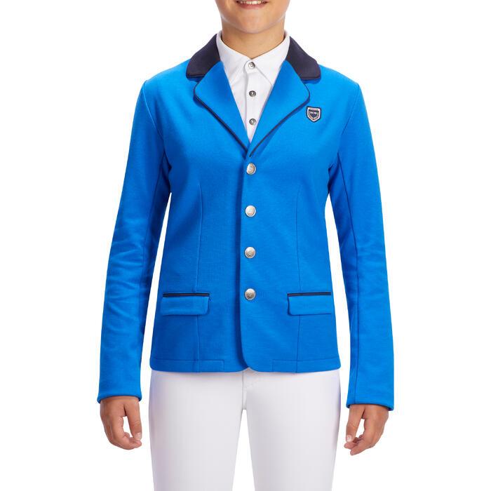 Wedstrijdjasje Comp100 voor kinderen ruitersport koningsblauw