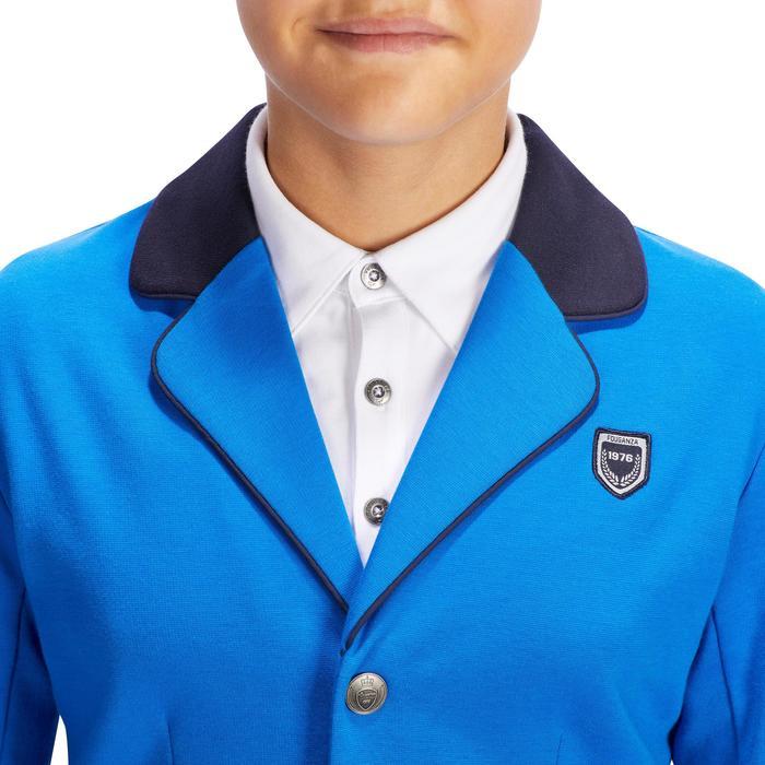 Chaqueta de Concurso equitación niños COMP100 azul royal