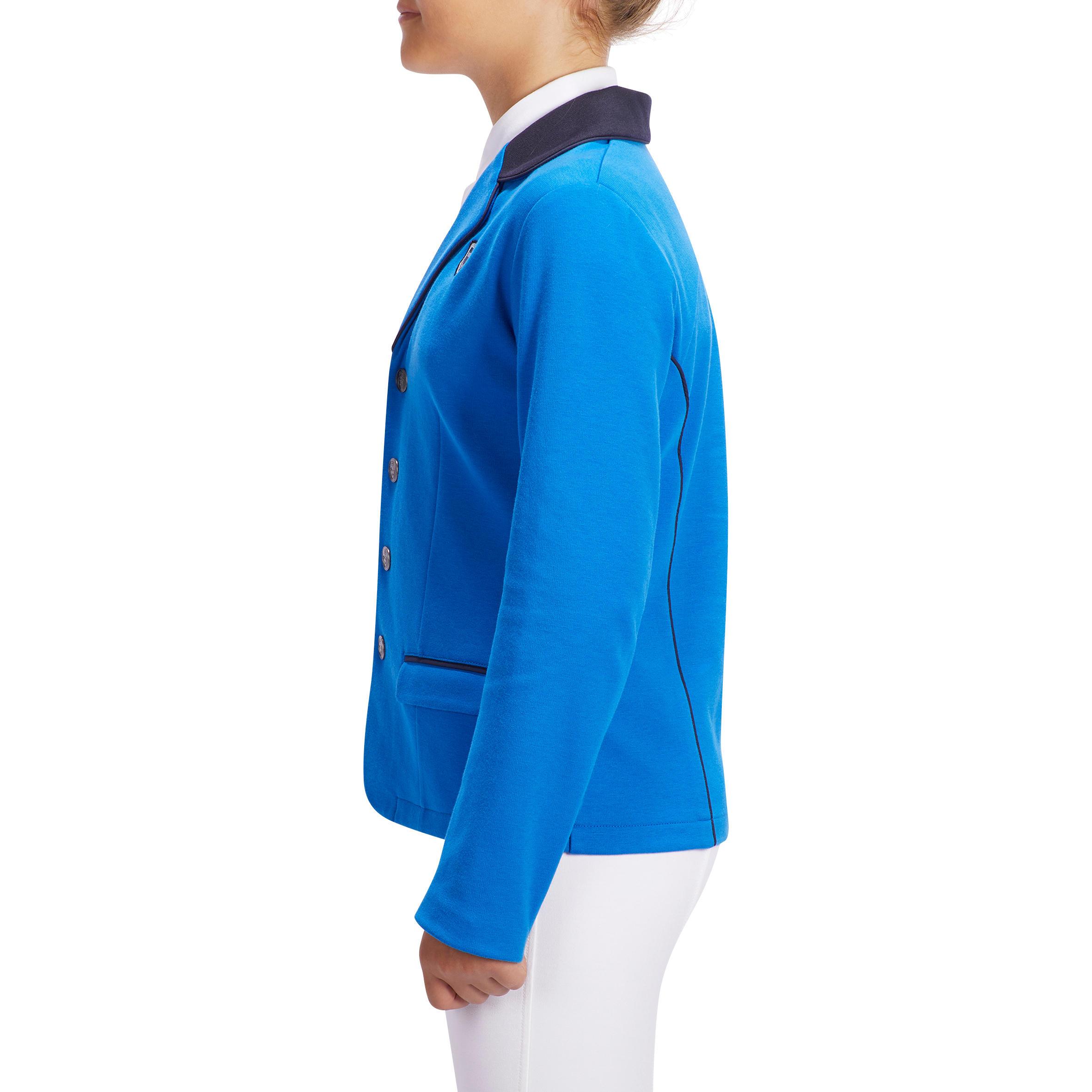 Veste de concours équitation enfant COMP100 bleu roi