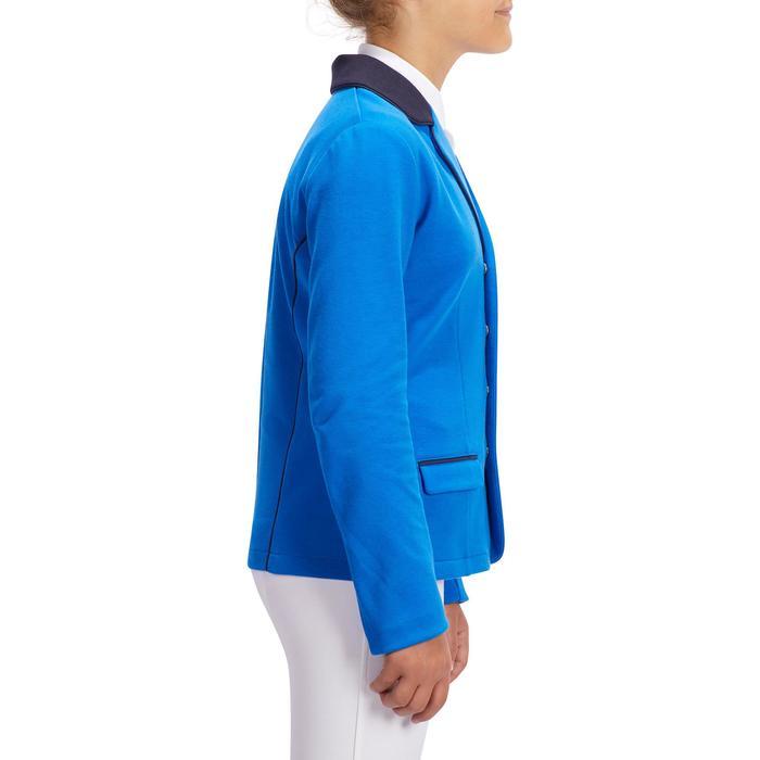 Wedstrijdjasje voor kinderen ruitersport COMP 100 koningsblauw