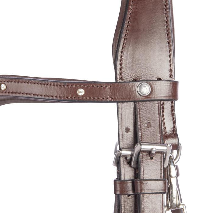 Bridon équitation 580 STRASS marron - taille cheval