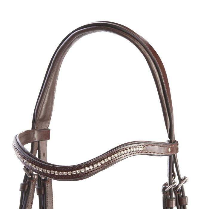 Bridón equitación 580 ESTRÁS marrón - talla caballo