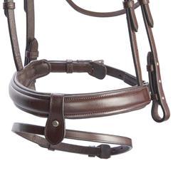 Hoofdstel ruitersport 580 strass bruin - maat pony