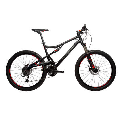 VTT SUSPENDU ROCKRIDER 520 BLACK ORANGE