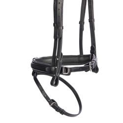 580 Strass Horseback Riding Bridle for Horses - Black