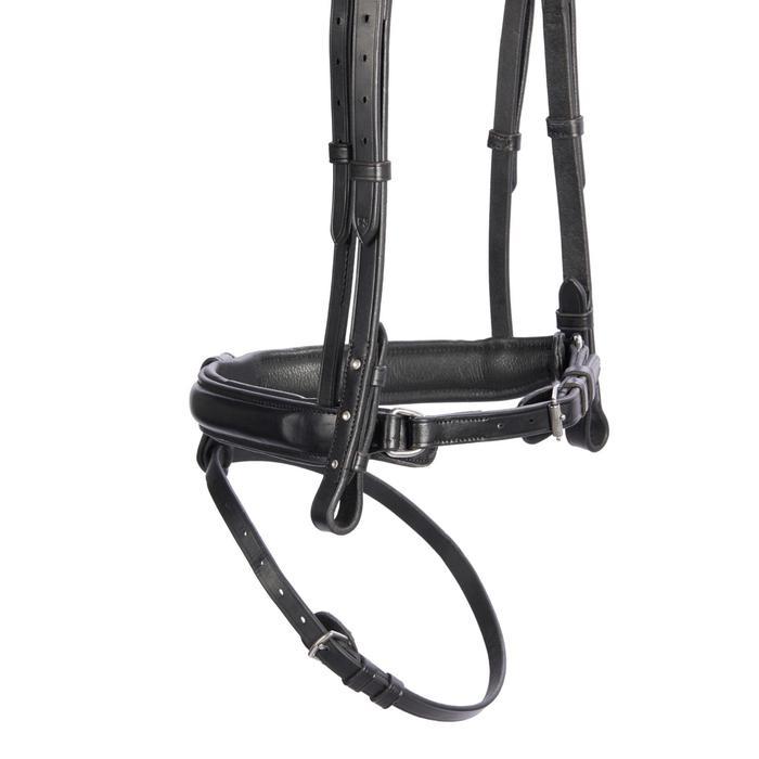 Bridon équitation 580 STRASS noir - taille cheval