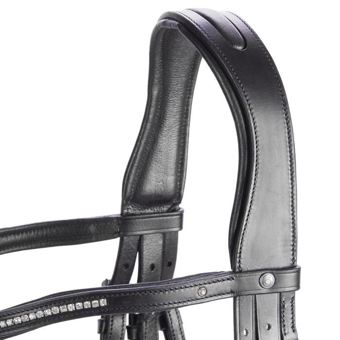 Trense 580 Strass Leder Pony schwarz