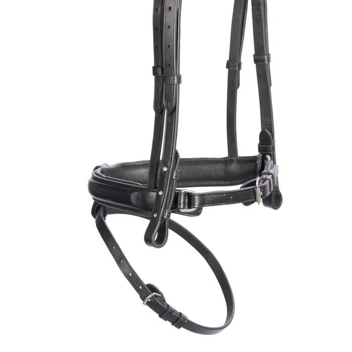 Bridon équitation 580 STRASS noir - taille poney
