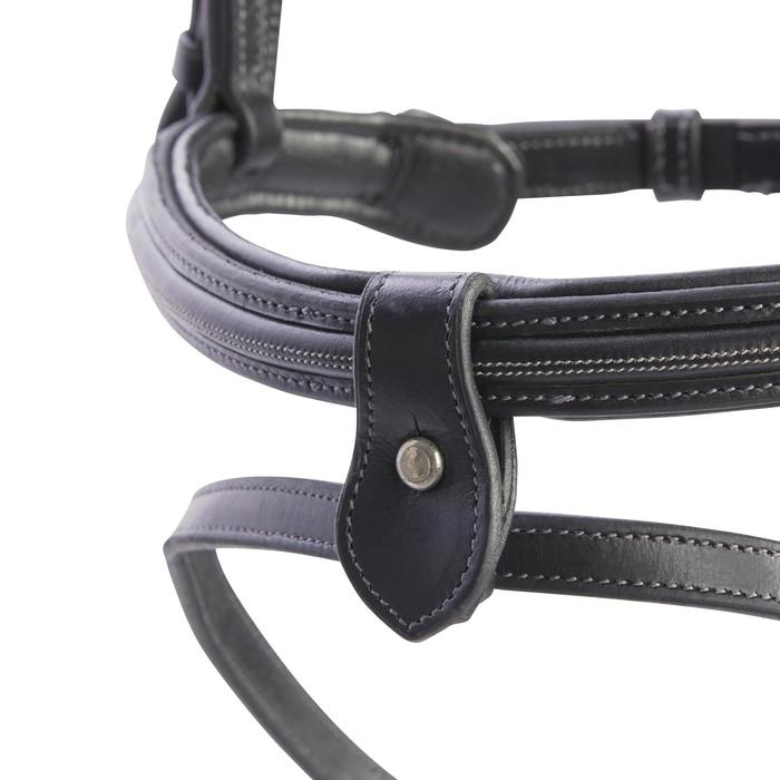 縫飾馬術馬籠頭580-黑色