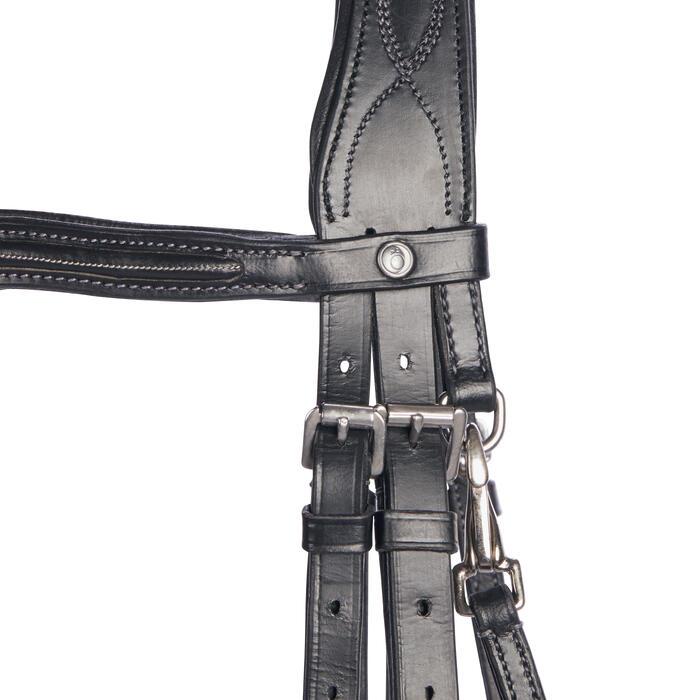 Trense 580 Leder Pferd schwarz