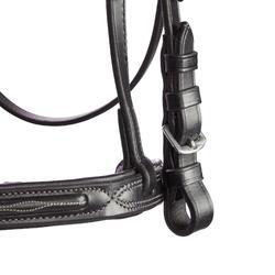 Hoofdstel ruitersport 580 met sierstiksels zwart - maat paard