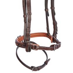 580 Topstitched Horse Riding Bridle For Horse - Brown