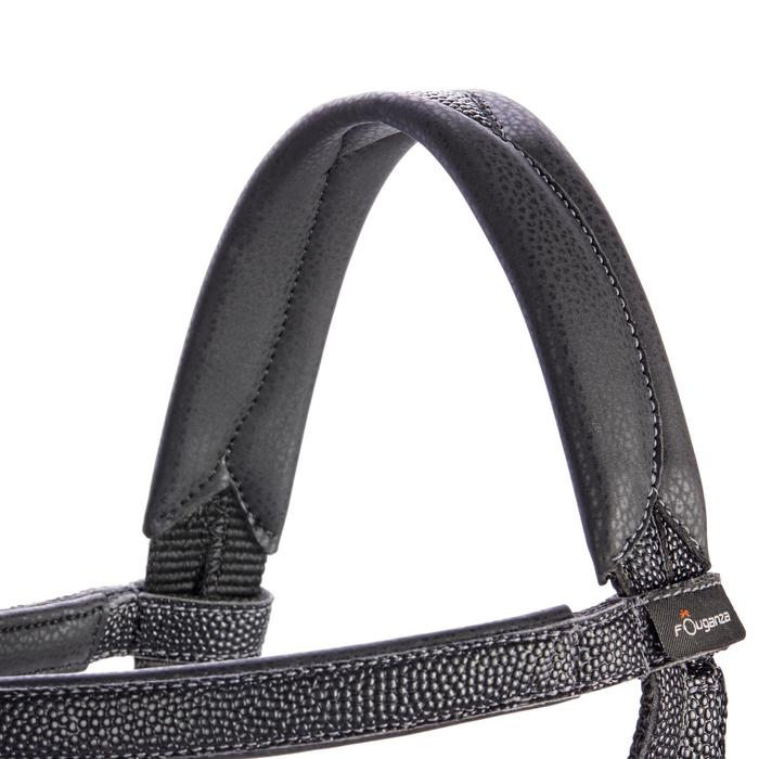 Filet + rênes équitation 100 noir - taille poney