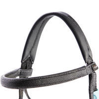 100 Horseback Riding Bridle + Reins for Pony - Black