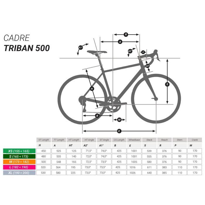 Rennrad Triban 500 schwarz/weiß