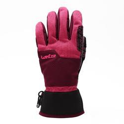 男女適宜的極限運動單板滑雪手套FREE 300 - 紫色