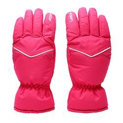成人滑雪手套SKI-P GL 100 - 粉紅色