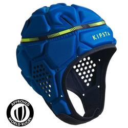 Casco rugby R500 azul amarillo