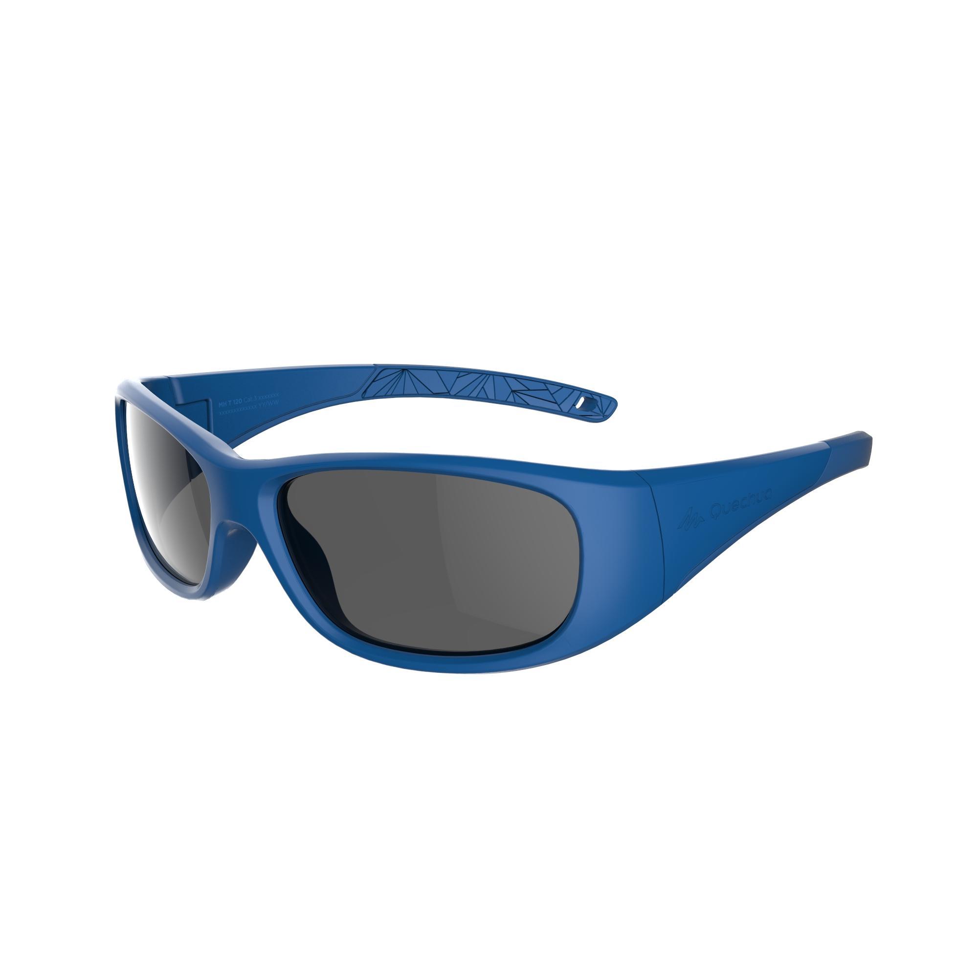 Lentes de sol de senderismo niños 7-9 años MH T 120 azul categoría 3