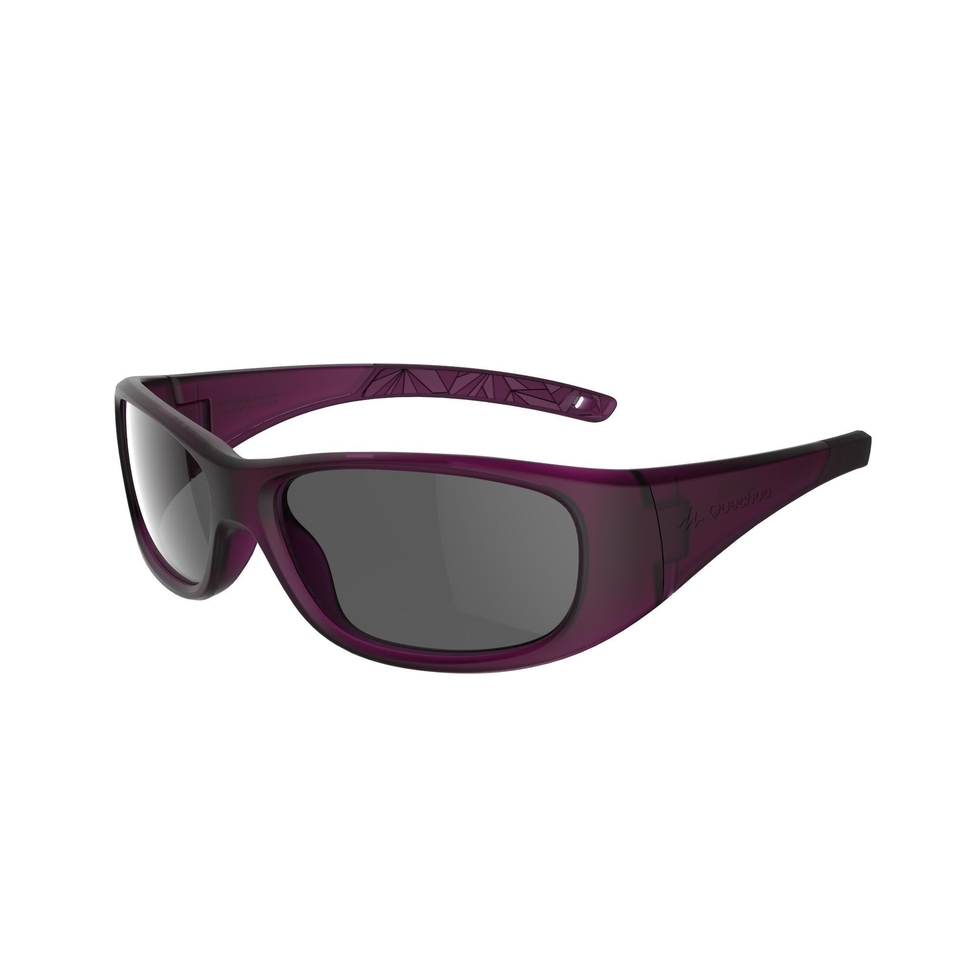 Lunettes de soleil de randonnée enfant 7-9 ans MH T 120 violettes catégorie 3