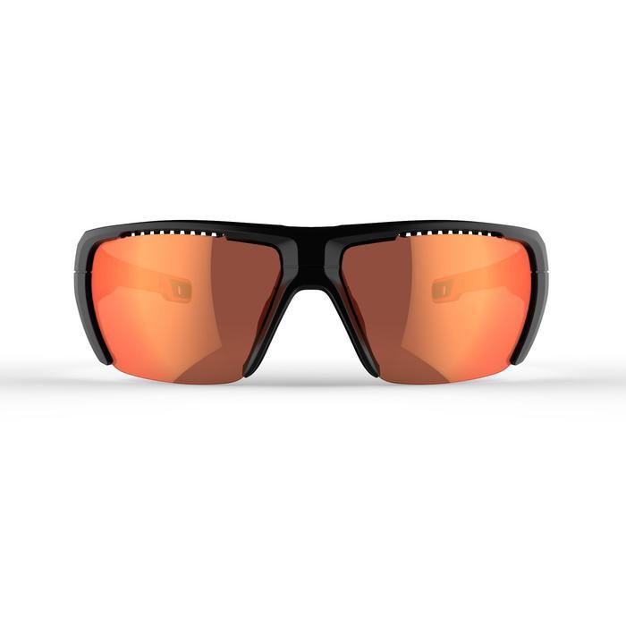 Lunettes de randonnée adulte MH 590 noires et orange polarisantes catégorie 4 - 1253605