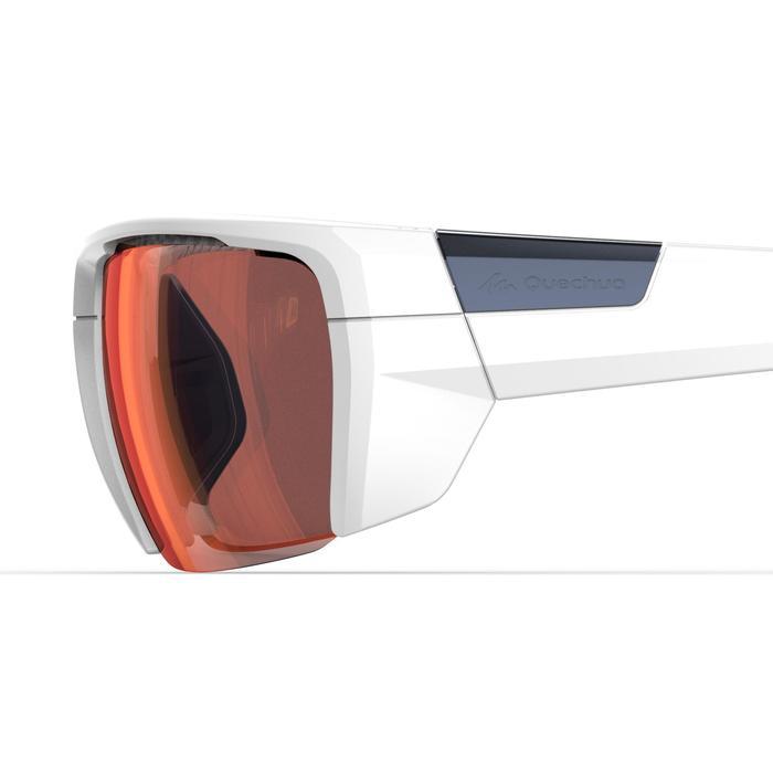 Gafas de senderismo adulto MH 590 Blanco y Naranja fotocromáticas CAT. 2=>CAT. 4