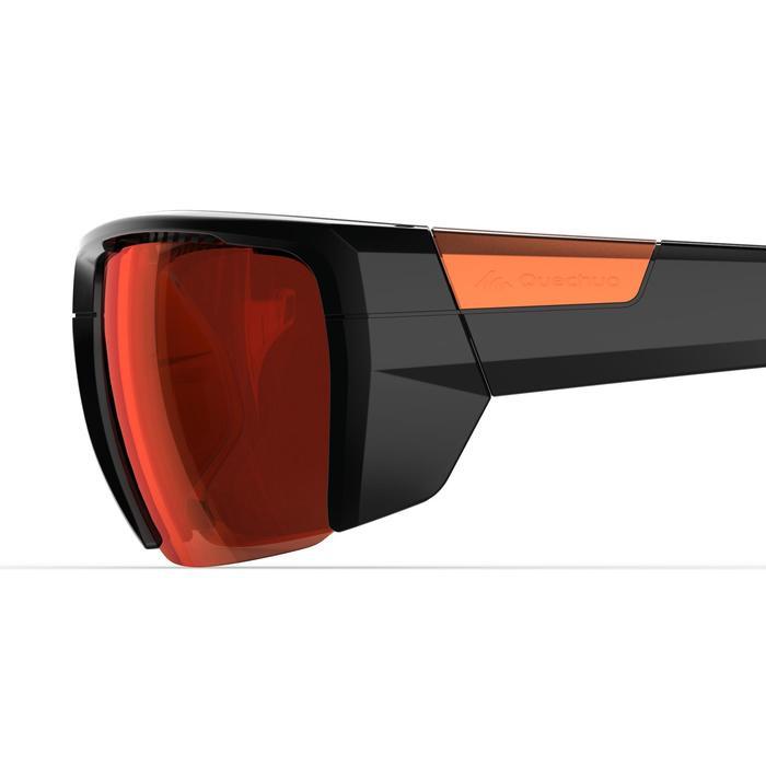 Lunettes de randonnée adulte MH 590 noires et orange polarisantes catégorie 4 - 1253609