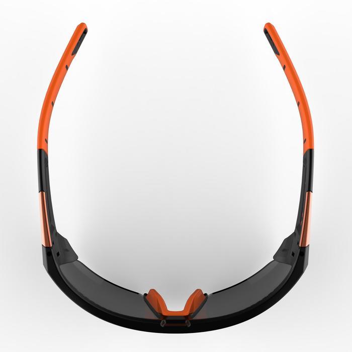 Lunettes de randonnée adulte MH 590 noires et orange polarisantes catégorie 4 - 1253610