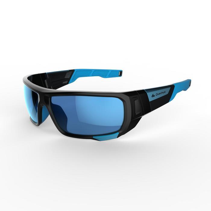 Lunettes de randonnée adulte MH 910 noires/bleues verres interchangeables cat4+2 - 1253612