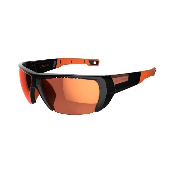 Lunettes de randonnée adulte MH 590 noires et orange polarisantes catégorie 4 - 1253614
