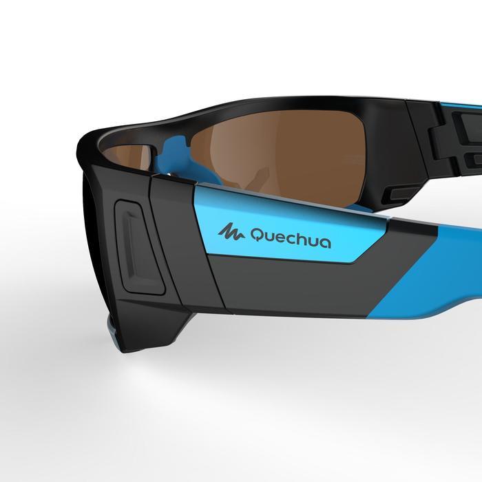 Lunettes de randonnée adulte MH 910 noires/bleues verres interchangeables cat4+2