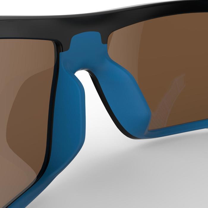 Lunettes de randonnée adulte MH 910 noires/bleues verres interchangeables cat4+2 - 1253617