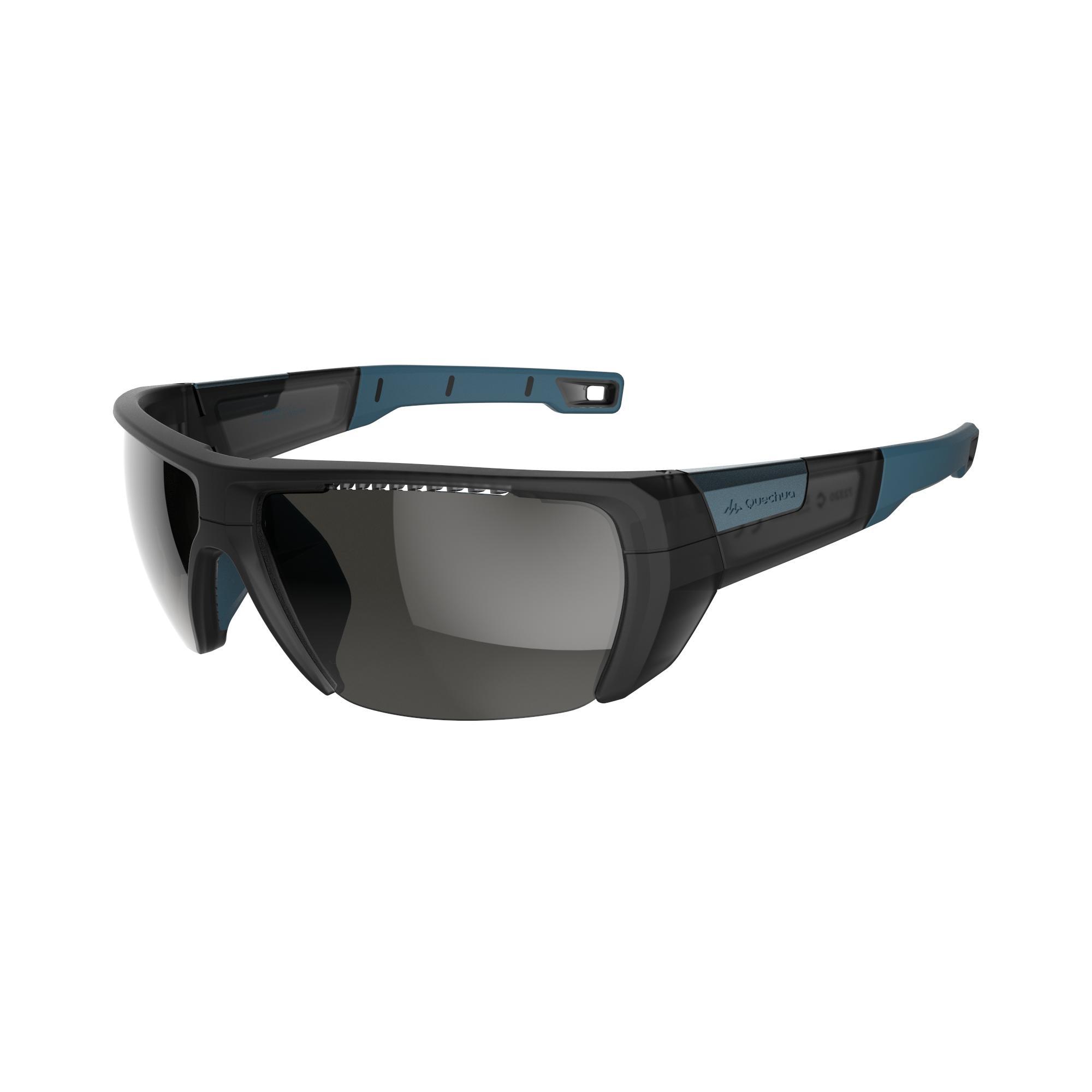 Lunettes de randonnée adulte MH 590 noires et bleues catégorie 4